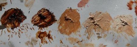 La palette de la peau