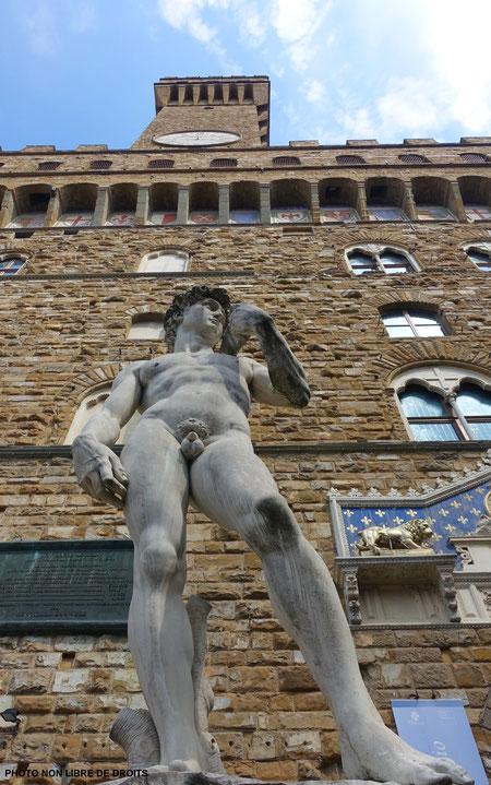 Copie de David, Piazza della Signoria, Florence, photo non libre de droits