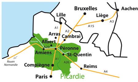 A 2 Ausfahrt/sortie 14 Cambrai oder/ou 13.1 Péronne