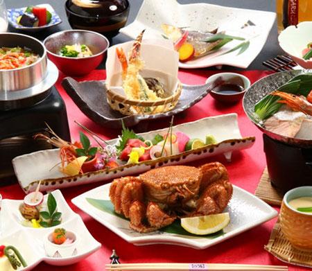 北海道の食材を使ったコースメニュー