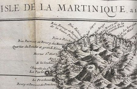 Labat, Isle de la Martinique (extrait, côte nord atlantique)