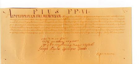 Indulgenza Plenaria - bolla 28 maggio 1781