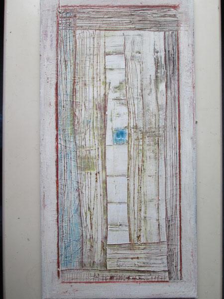 Fenster (Acryl und Wachskreide auf Leinwand)