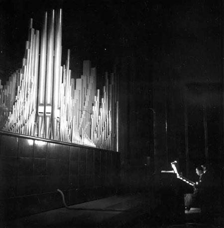 Maurice Duruflé en concert au Palais de Chaillot.