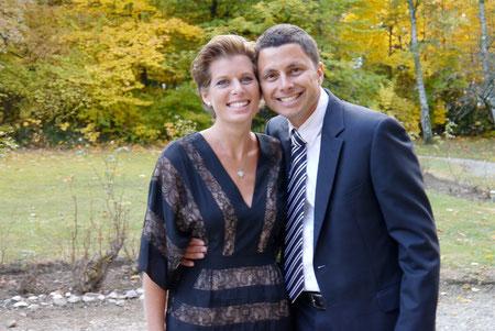 Fudgie & Dingo back in Geneva for David & Suzanne's wedding