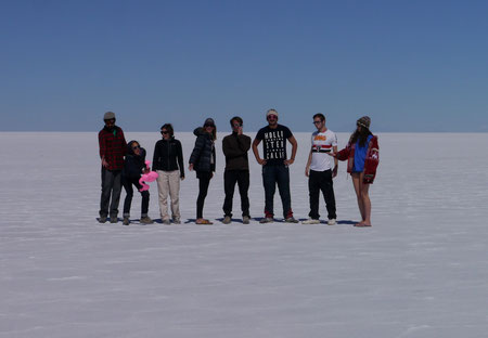 The Salar de Uyuni Crew on the Salar