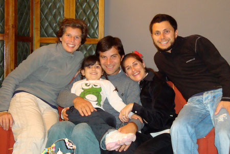 Deborah and I with the Mantegini Family in Mendoza