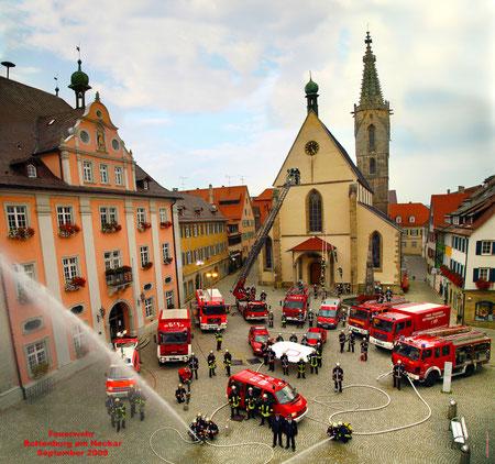Gruppenbild Feuerwehr Rottenburg 2009