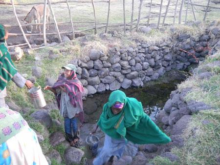 Wasserstelle in Äthiopien