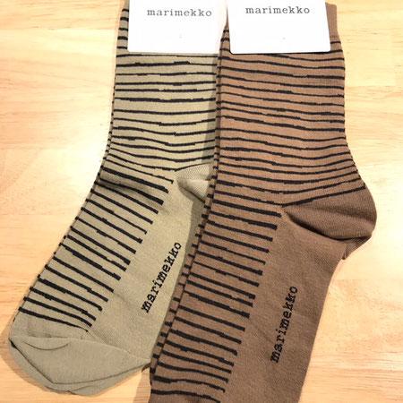マリメッコ marimekko ボーダー柄 靴下 socks