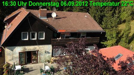 Wetter vom Donnerstag den 06.09.2012 um 16:30 Uhr Sonnenschein Temperatur 22°C