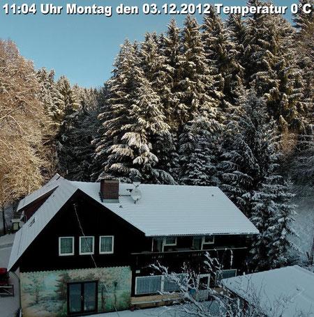 * Wetter vom Montag den 03.12.2012 um 11:04 Uhr sonnig, später wieder stark bewölkt. Temperatur 0°C Nacht bis -6°C *