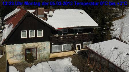 Wetter vom Montag den 05.03.2013 um 13:23 Uhr Sonne pur Temperatur 0°C bis +3°C © Copyright by Olaf Timm
