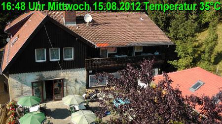 Wetter vom Mittwoch den 15.08.2012 um 16:48 Uhr Sonnenschein Temperatur 35°C
