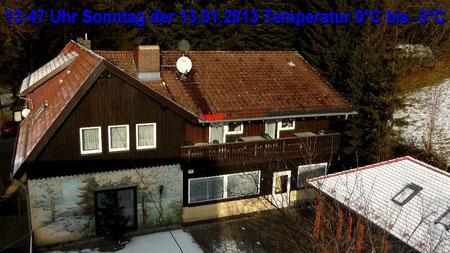 Wetter vom Sonntag den 13.01.2013 um 13:47 Uhr sonnig, später wieder stark bewölkt. Temperatur 0°C bis -3°C © Copyright by Olaf Timm