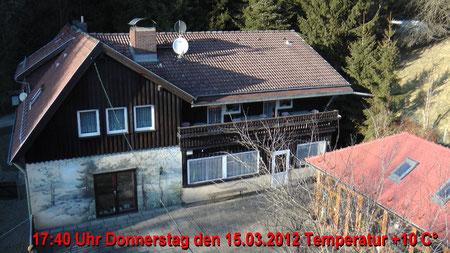 Wetter vom Donnerstag den 15.03.2012 um 17:40 Uhr Sonnenschein Temperatur 10°C
