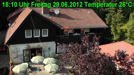 Wetter vom Freitag den 29.06.2012 um 18:10 Uhr Sonnenschein Temperatur 26°C
