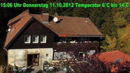 Wetter vom Donnerstag den 11.10.2012 um 15:06 Uhr Sonnenschein Temperatur im Schatten 6°C in der Sonne bis 14°C