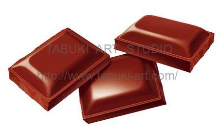 チョコレート 有料レンタルイラスト