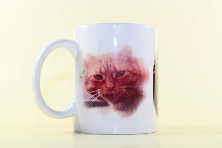 Ihr Haustier schön abgelichtet auf einer Tasse