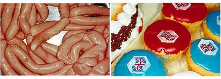 Martin Parr, extraits du livre British Food, 1995
