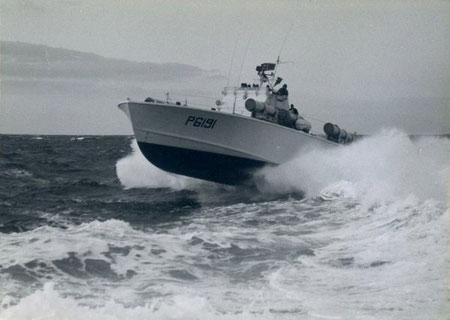 "S-Boot Klasse 152 (P 6191 ""Hugin"") - Bild: Archiv Prochnow"