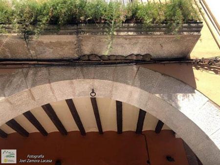 Balcó a les Borges Blanques que encara conserva els nius a prop d'on s'han retirat els anteriors