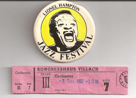 Einer der größten Namen des Jazz:  Lionel Hampton (1908-2002) -  Kongresshaus Villach -  Dezember 1992