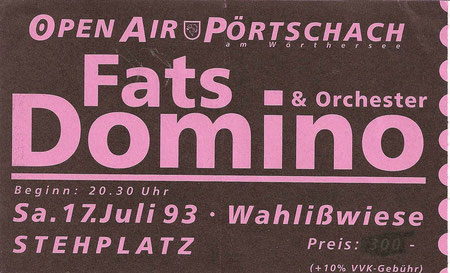 Fats Domino Pörtschach 17. Juli 1993