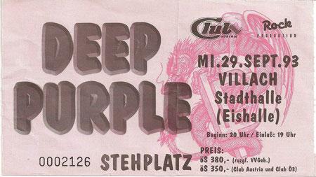 Deep Purple Villach Stadthalle 29. September 1993