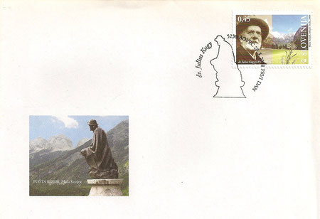 Briefmarke der slowenischen Post zu Ehren Julius Kugys