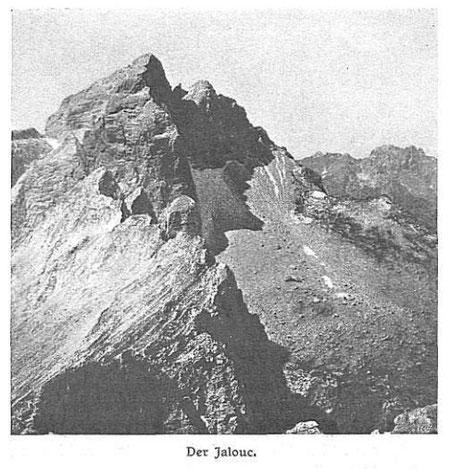 Der Jalovec (Jalouc) in einer historischen Aufnahme aus dem Jahr 1910