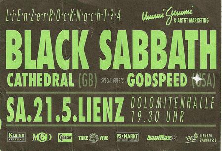 Black Sabbath Lienz 21. Mai 1994