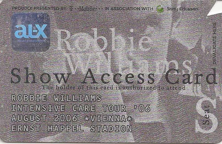 Robbie Williams Ernst Happel Stadion Wien 19. August 2006