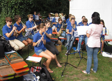 Auftritt beim Kirchbergfest 2011, Leitung: Julia Dellweg-Peifer