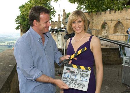 Regisseur Matthias Weik und Melanie nach Abschluss des Drehs. copyright: SWR/A.Kluge