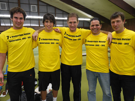 v.l. Dirk Droth, Patrick Elias, Gerrit Lotz, Coach Luis Elias und Pascal Wilkat.