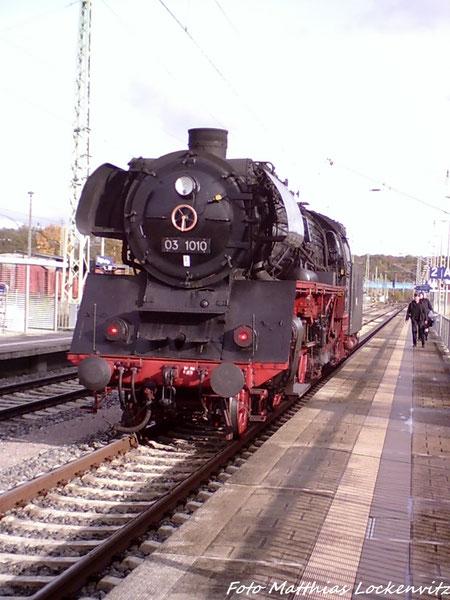 03 1010 Ist In Bergen auf Rügen Angekommen
