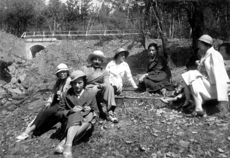 MSI Collection - Europe ; Delia is seated on the far right in white