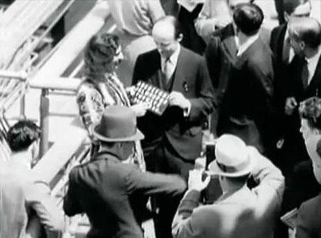 In board the SS Bremen near New York, 1932