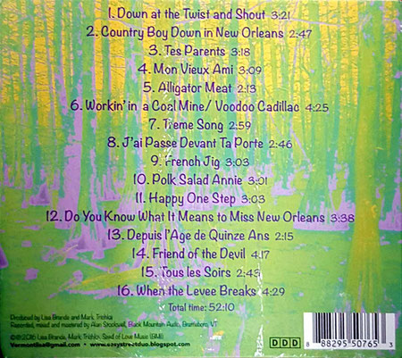 2019 CD - Back cover