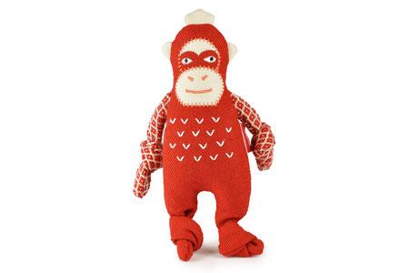 Hundestrand Hundespielzeug Stoffspielzeug Resploot Orangutan rot Design