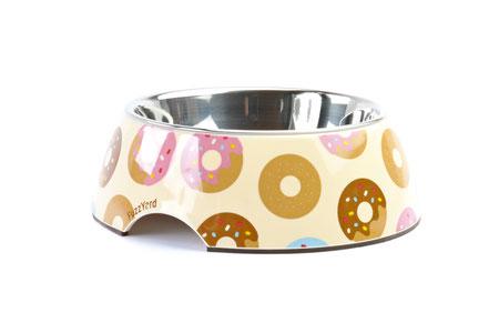 hundestrand Hundenapf Donuts bunt modern Edelstahl Fuzz Yard