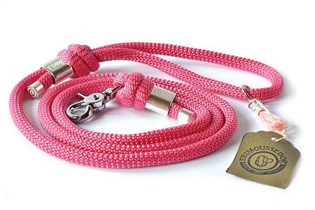 Hundestrand Hundeleine Leine Framboise pink Frimousse Dog