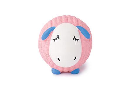 hundestrand HuggleHounds Ruff Tex Dreamie Lamb rosa Hundespielzeug Ball natürlich
