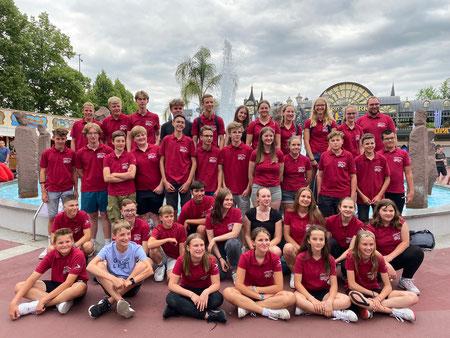 Die Jugendkapelle bei der Konzertreise nach Regensburg im Juli 2010