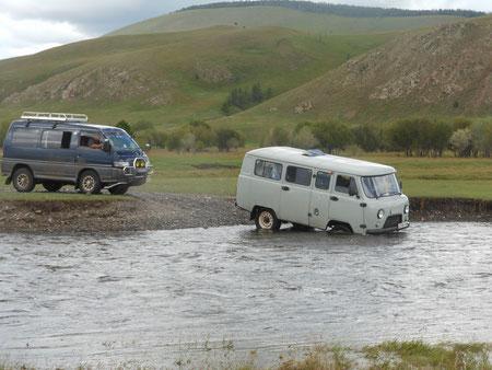 Traversé tracté lors des rivières en crues été 2012