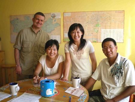 Notre équipe en voyage trappeur Mongolie