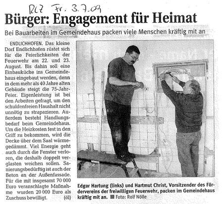 Pressemitteilung Rhein-Lahn-Zeitung am 03.07.09