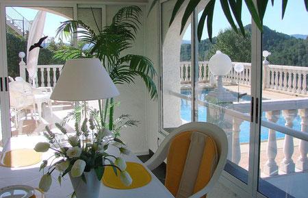 Ferienwohnung Valencia, Villa Gandia Hills, Wintergarten, www.ferienwohnung-valencia.com